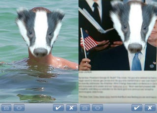 Illustration for article titled Bored This Friday? Turn Your Friends Into Augmented Reality Badgers Using This App