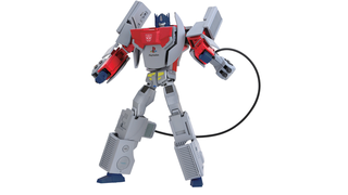 Illustration for article titled This Optimus Prime turns into a Playstation 1, and that's Magnificent