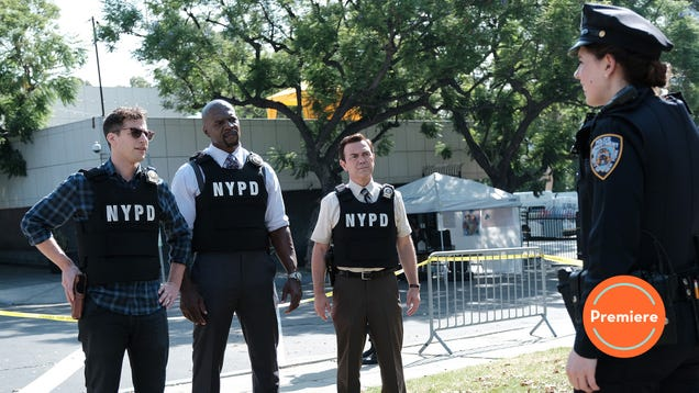 """It's a """"Manhunt"""" (and Traveling Pants situation) to start Brooklyn Nine-Nine's seventh season"""