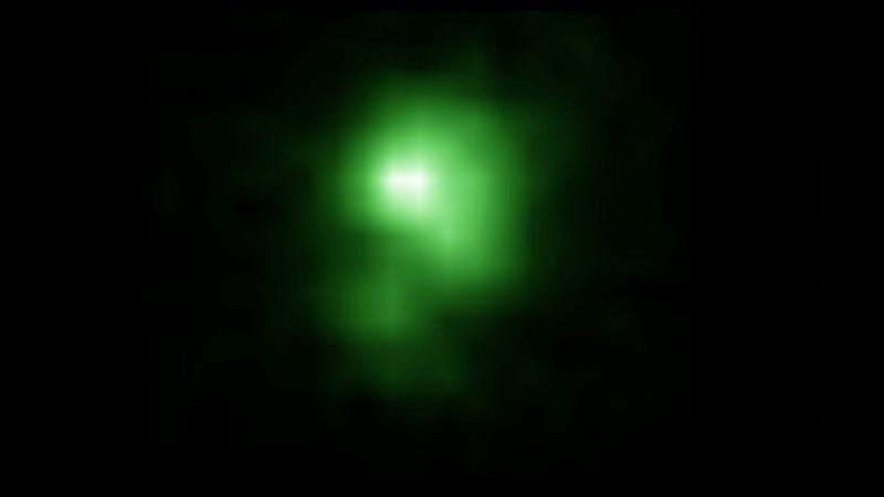 Illustration for article titled 'Green Pea' Galaxies May Have Reheated the Universe After Cosmic Dark Age