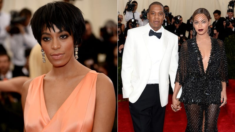 Illustration for article titled Solange Hit Jay Z For Trying to Go to Rihanna's After-Party Sans Bey