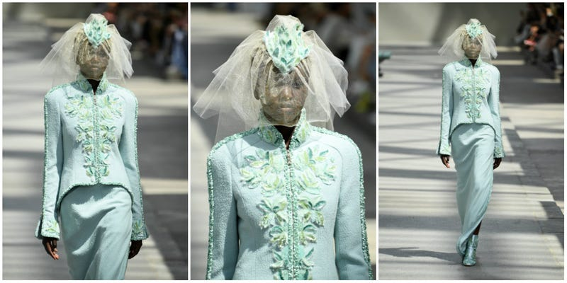 Adut Akech Bior walks the runway for the Chanel Haute Couture Fall Winter 2018/2019 on July 3, 2018 in Paris, France.