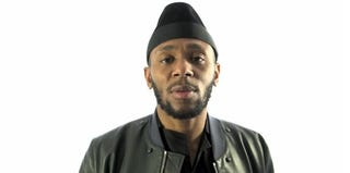 Yasiin Bey, aka Mos Def, about to undergo the force-feeding procedure (The Guardian video)