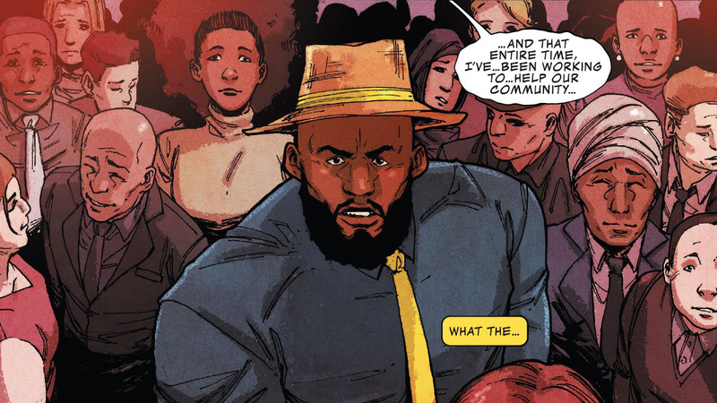 Luke Cage witnessing something terrible.