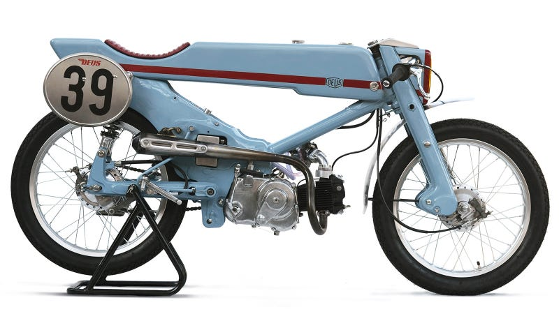 Illustration for article titled This Is What Happens When You Turn A Honda Super Cub Into A Badass Racer