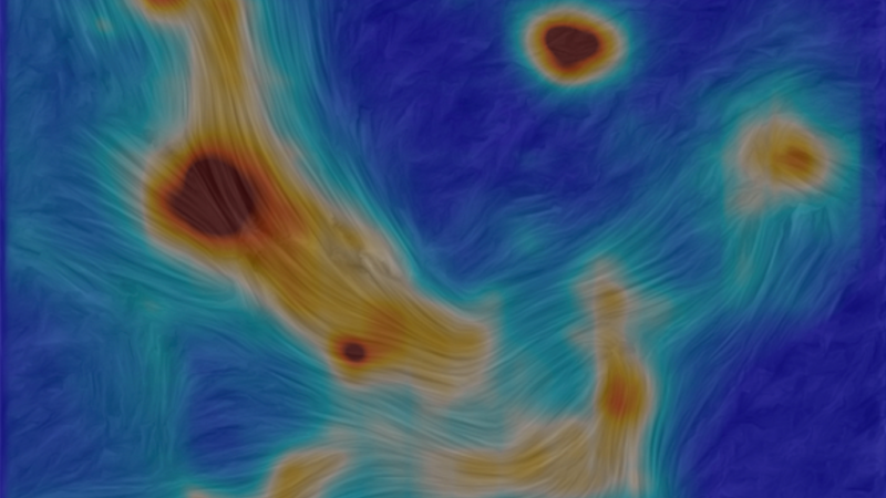 Polarization map of the galactic center