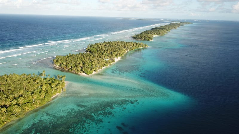 Coral atolls in Majuro, Marshall Islands.
