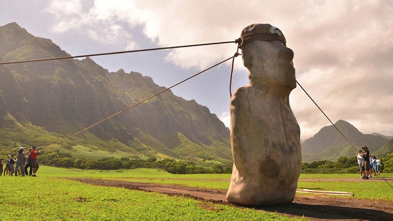 "Illustration for article titled The statues of Easter Island could have ""walked"" into place"