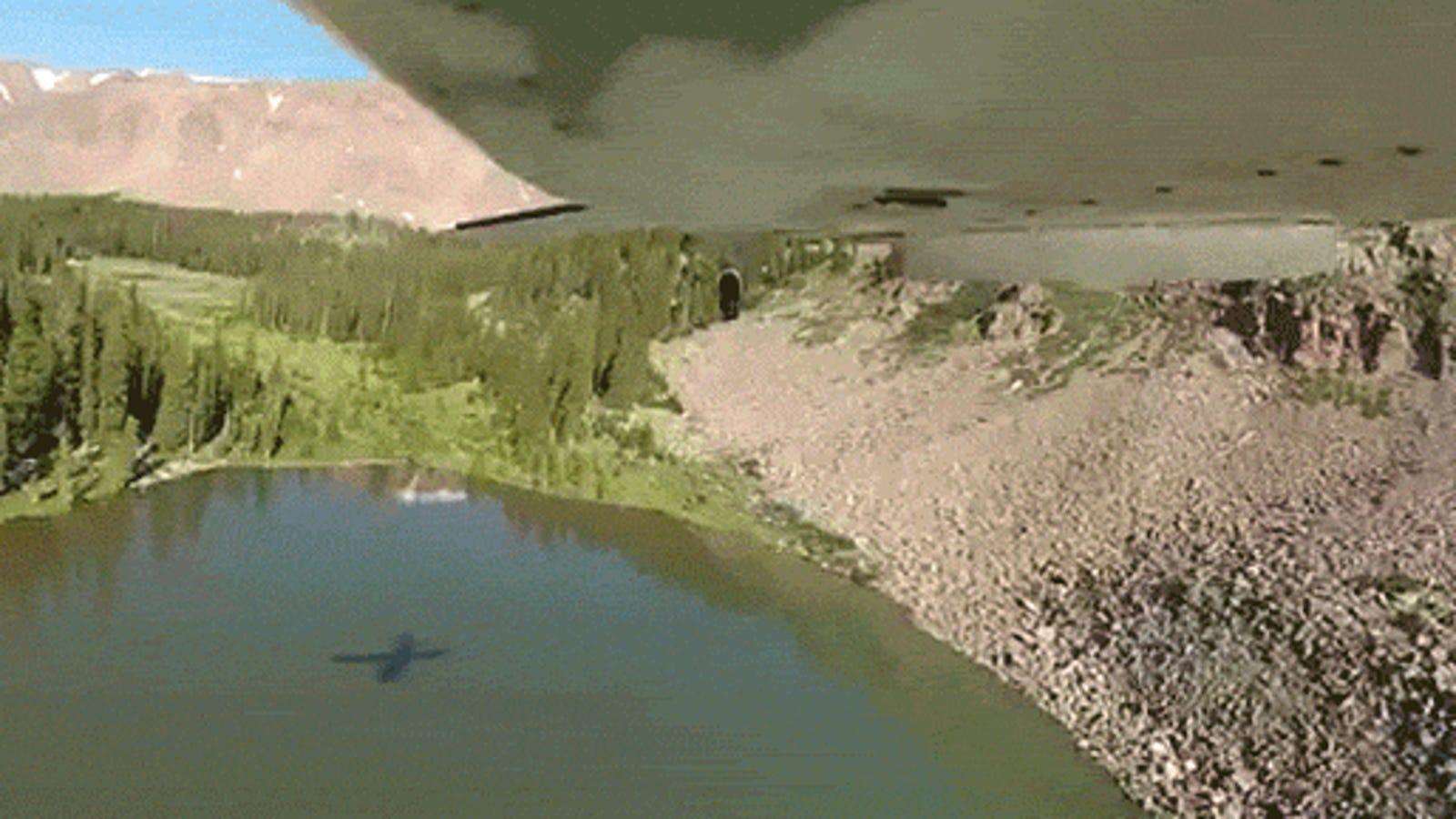 Así se repueblan de peces algunos lagos: con avioneta