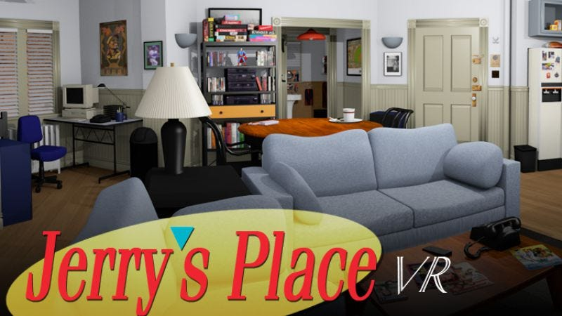 Illustration for article titled Jerry's Place lovingly recreates Seinfeld's apartment in virtual reality