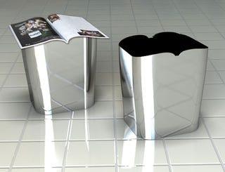 Illustration for article titled Wastebasket Facilitates Hands-Free Toilet Reading