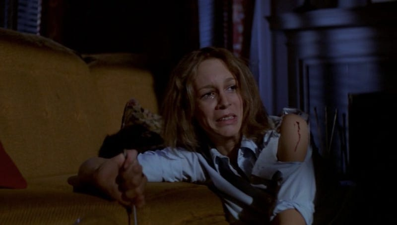 Jamie Lee Curtis as badass babysitter Laurie Strode in the original Halloween.