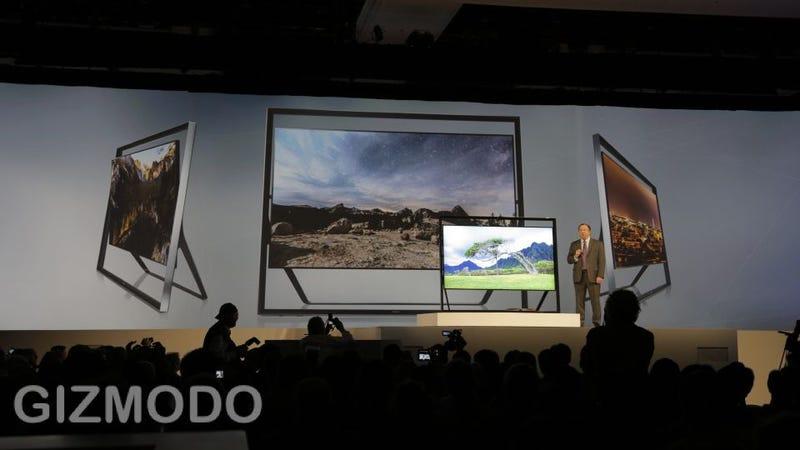 Illustration for article titled Lo nuevo de Samsung: gigantescas teles 4K, cámaras compactas (y sí, un frigorífico)