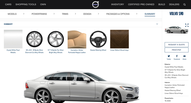 Illustration for article titled The S90 configurator is here.