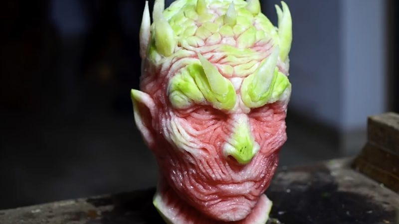 Game of thrones night s king is still scary in watermelon