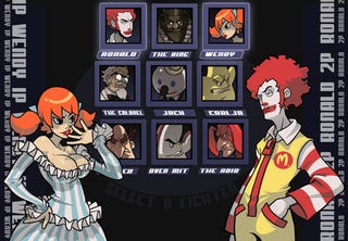 Illustration for article titled Fast Food Mascots in Street Fighter Alpha