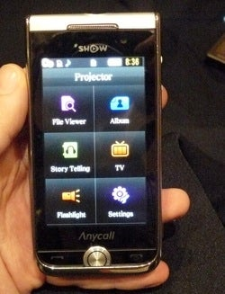 Illustration for article titled Samsung Show is the First Brand Name, Non-Prototype Projector Phone