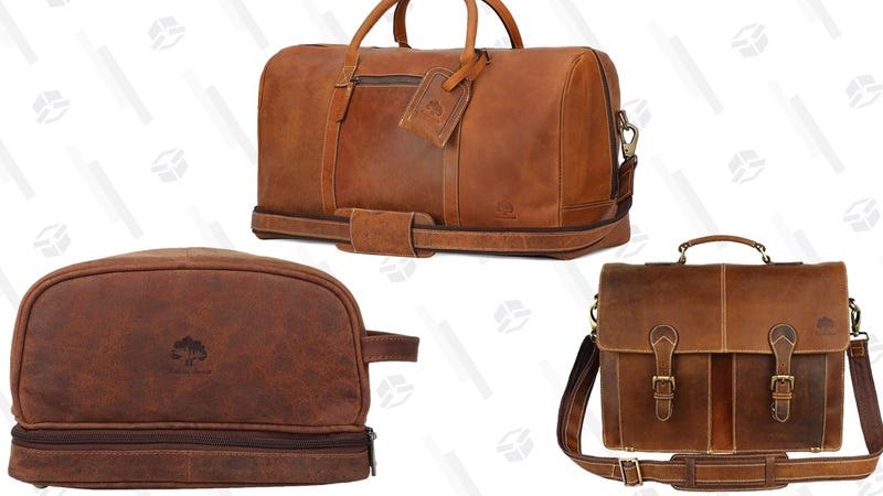 Leather Travel Gold Box | Amazon