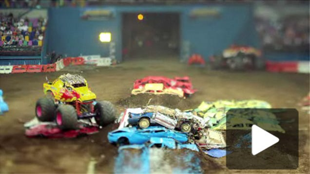 amazing tilt shift video from monster truck rally. Black Bedroom Furniture Sets. Home Design Ideas