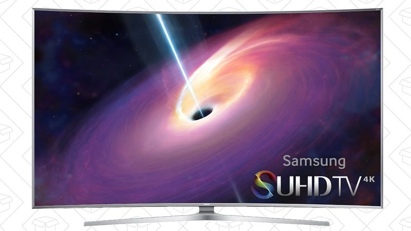 Samsung UN55JS9000 Curved 3D 4K Smart TV, $1199