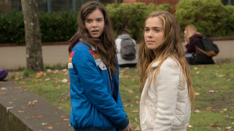 Steinfeld (left) with Haley Lu Richardson in The Edge Of Seventeen (Photo: STX Entertainment)