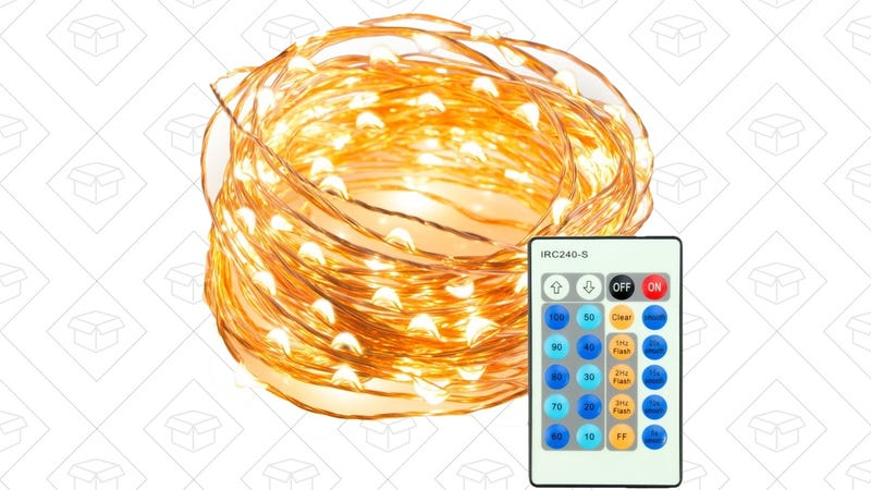 TaoTronics 33' Copper String Lights With Remote, $12 with code JKL3AOUU