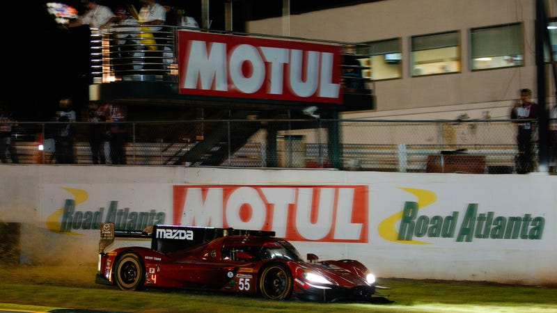 Illustration for article titled This is What it Looks Like to Make a Last Second Pass on the Grass at Petit Le Mans