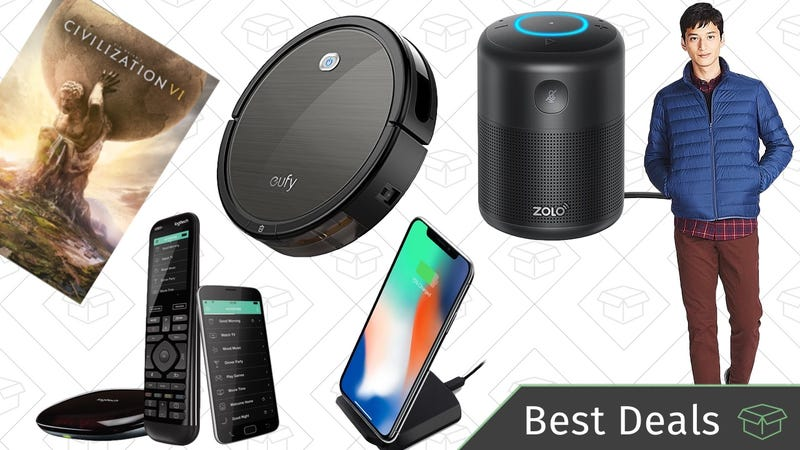 Illustration for article titled Monday's Best Deals: Alexa Speaker, Anker RoboVac, Down Jackets, and More