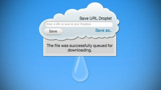 Illustration for article titled URL Droplet Downloads Files from a Web Address Straight to Your Dropbox
