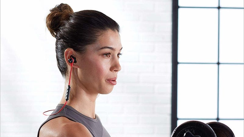 AmazonBasics Wireless Bluetooth Fitness Headphones | $15 | Amazon