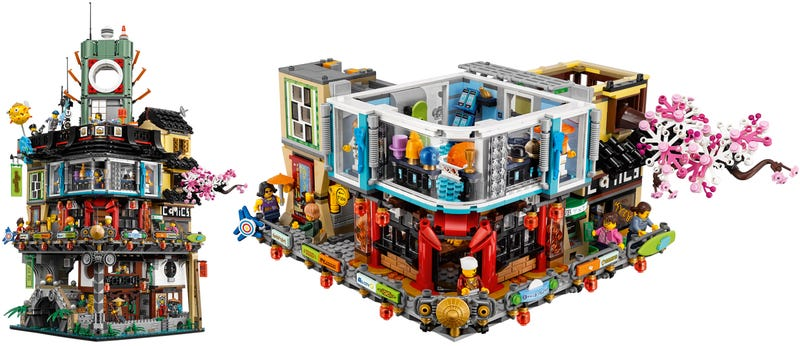 Illustration for article titled You Could Almost Live Inside Lego's Massive New Ninjago City Set