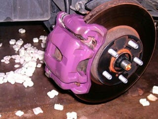 Illustration for article titled Paint Your Brakes, Maybe Purple