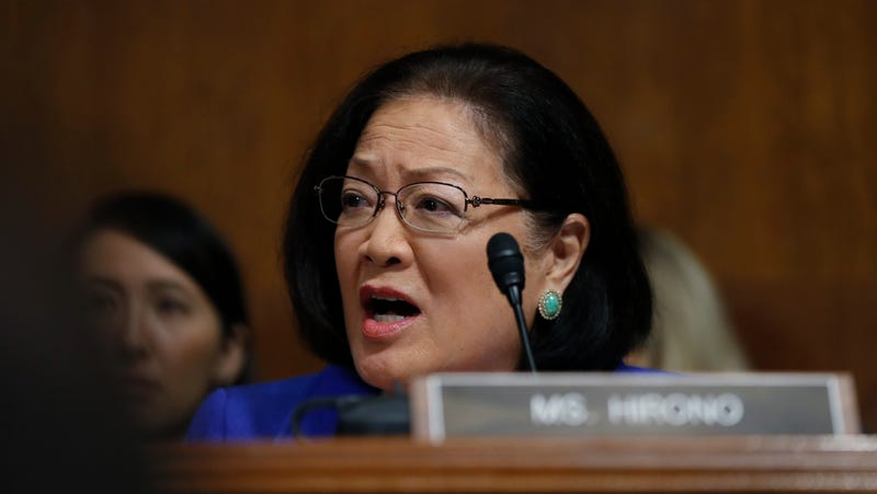 Illustration for article titled Mazie Hirono Says Susan Collins Can't Have It Both Ways on Christine Blasey Ford and #MeToo: 'What Is That?'