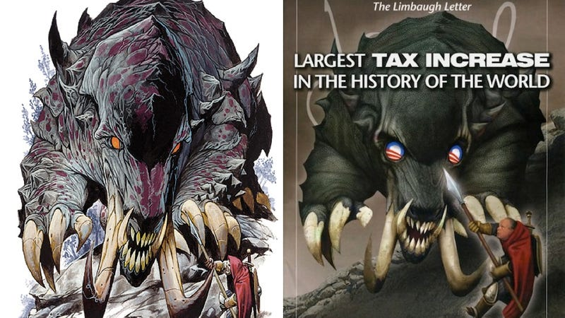 Illustration for article titled Did Rush Limbaugh's Newsletter Steal An Image From Dungeons & Dragons?