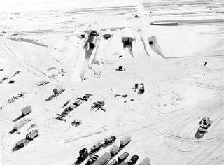 The surface of Camp Century in 1959. (Image: US Army Corps of Engineers)
