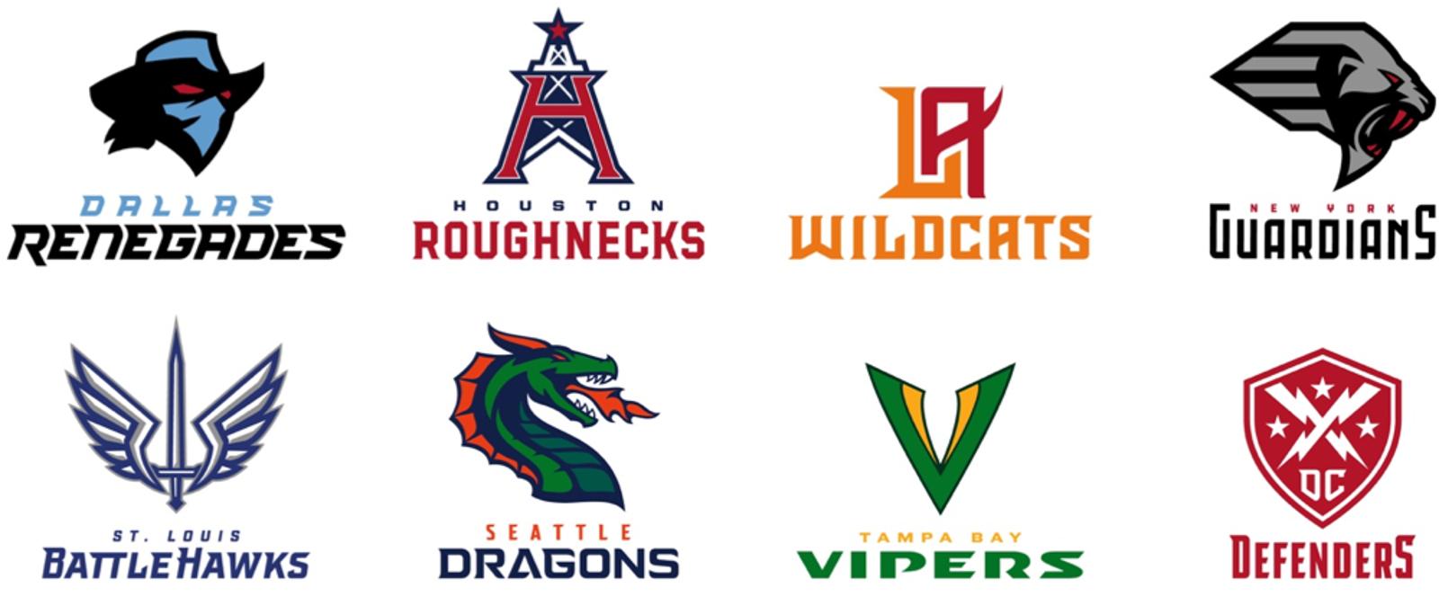 xfl logos and teams