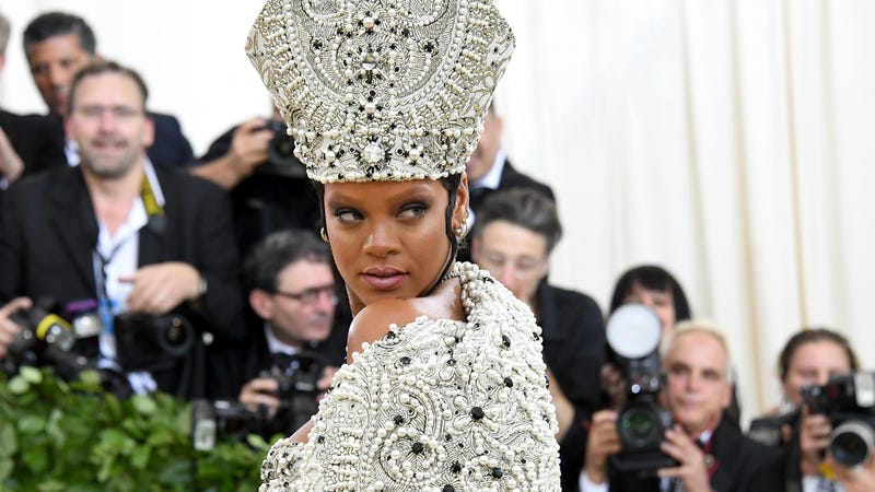 Rihanna attends the Heavenly Bodies: Fashion & The Catholic Imagination Costume Institute Gala at The Metropolitan Museum of Art on May 7, 2018 in New York City.