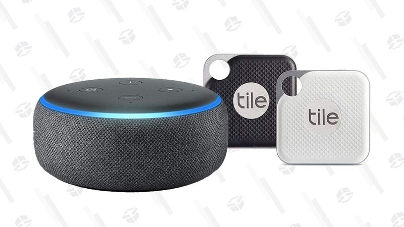 Tile Mate | $14 | AmazonTile Pro 2-Pack With User-Replaceable Batteries + Echo Dot | $60 | Amazon