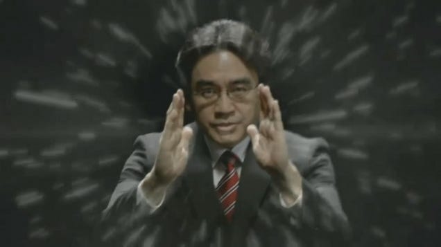 A photo of Satoru Iwata in the 2014 Nintendo Digital Event at E3