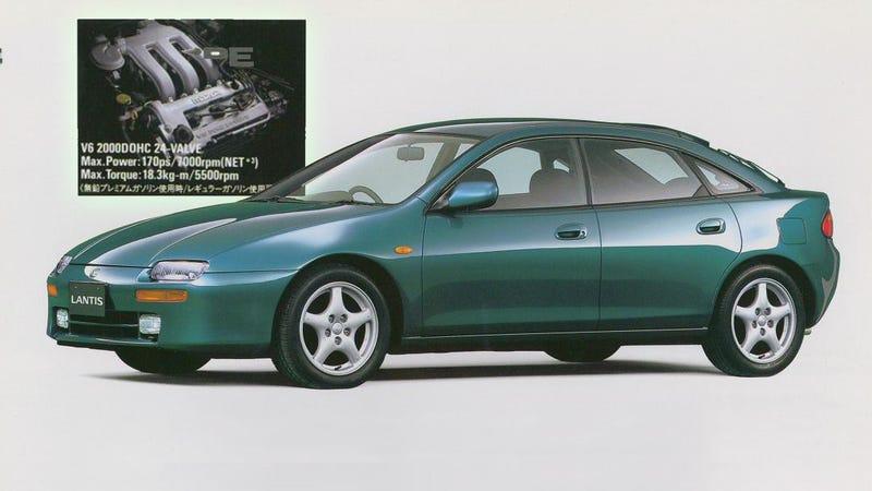 The Mazda Lantis and Mazda's 2.0-liter V6.