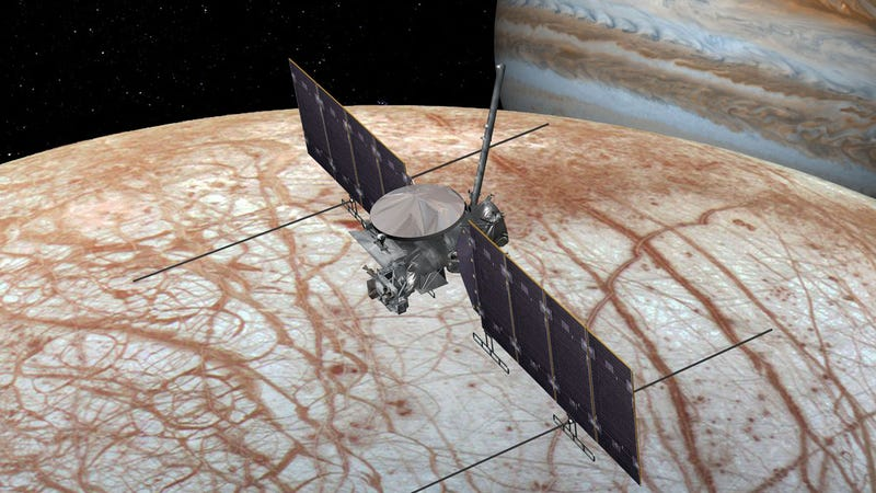 Artist's concept of the Europa Clipper.