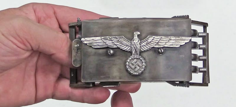 Illustration for article titled This Steampunkish Nazi Belt Buckle Pistol Packs A Deadly Surprise