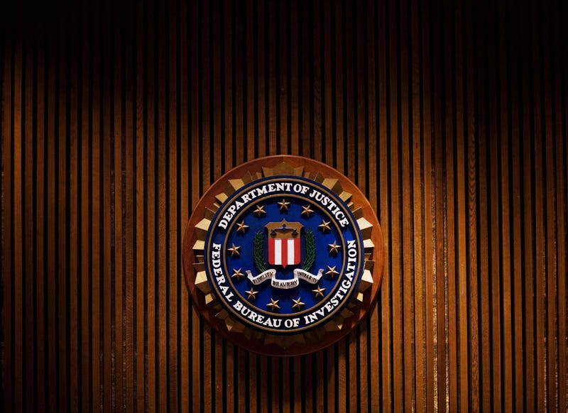 A crest of the FBI is seen inside the J. Edgar Hoover FBI Building in Washington, D.C., in August 2007.MANDEL NGAN/AFP/Getty Images