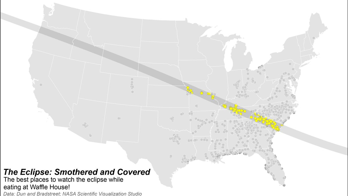 Enjoy This Map of Waffle House Locations With Views of the Solar Eclipse
