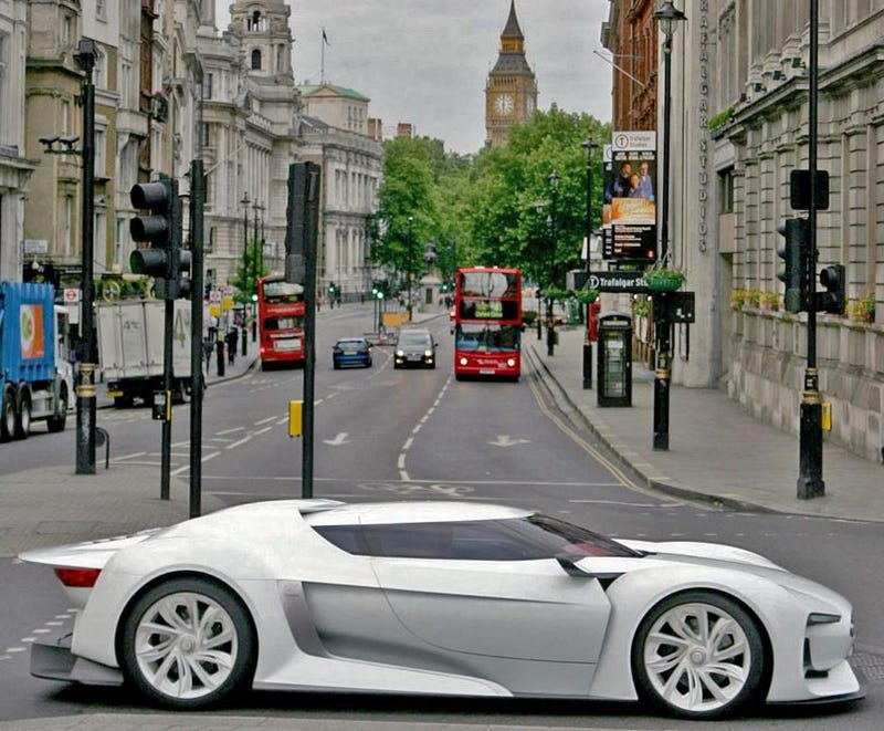 Illustration for article titled GTbyCITROËN Concept Does Tourist Thing On GT5 London Street Circuit