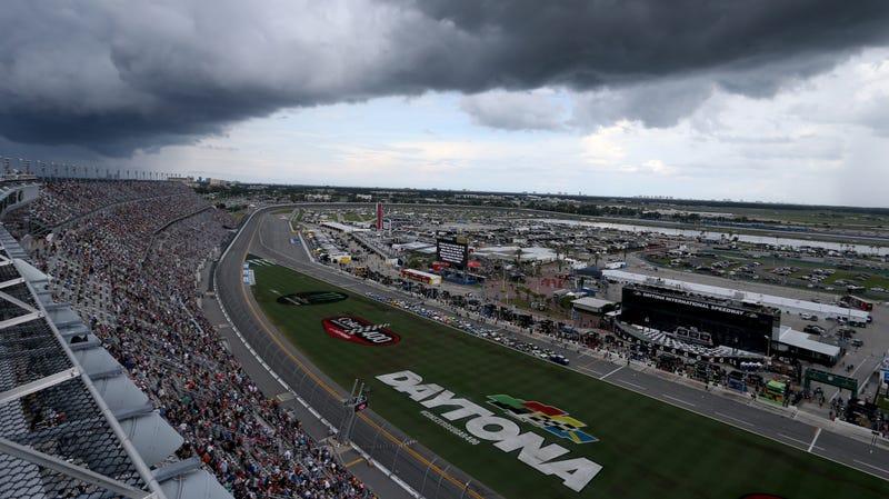 Illustration for article titled A Lightning Strike Decided the Fluke NASCAR Winner at Daytona