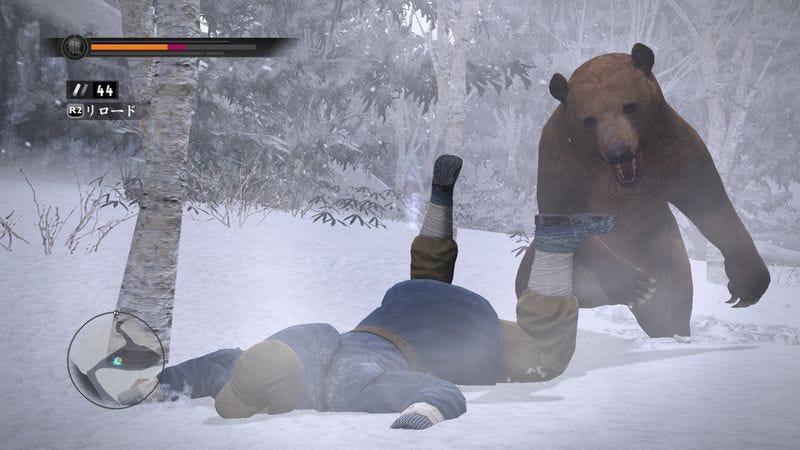 Fighting a bear in Yakuza 5