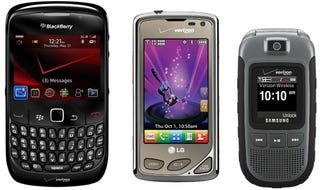 Illustration for article titled LG Chocolate Touch, BlackBerry Curve 8530, and Samsung Convoy: Verizon's Second-String Lineup