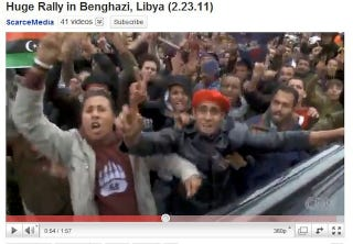 Illustration for article titled Libyan Protesters Repping Our Least Relevant College Teams