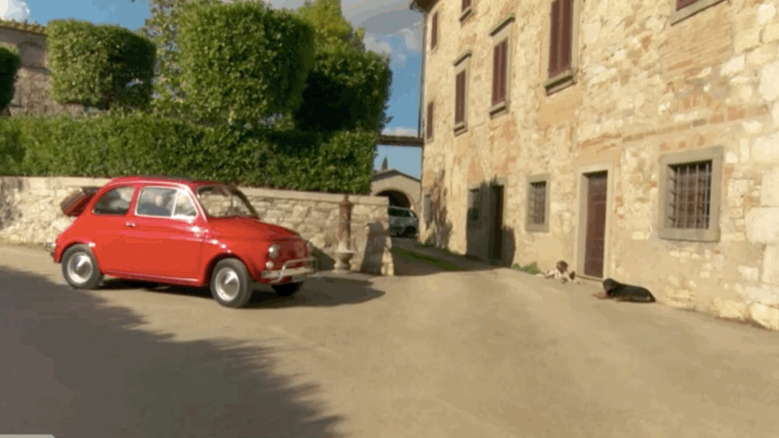 Conan O Brien Somehow Crammed His 6 4 Frame Into A 1962 Fiat 500